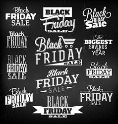 Black Friday Calligraphic Designs vector image vector image