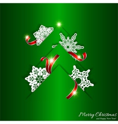 Green christmas tree background vector