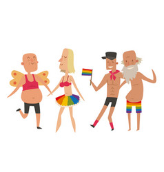 homosexual gay and lesbian people marriage man vector image