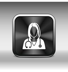 icon doctor closeup medical graphic design vector image vector image