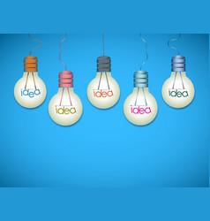 Light bulb idea background vector image vector image