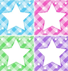 Stars template vector image