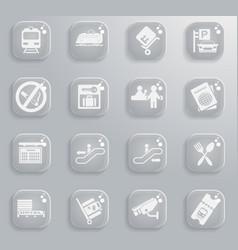 train station symbols vector image