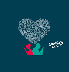 valentines day senior couple internet love design vector image