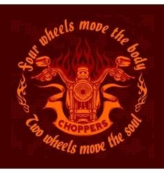 vintage bikers badge Retro chopper bike vector image