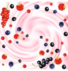 berries cream vector image vector image