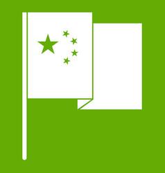 china flag icon green vector image