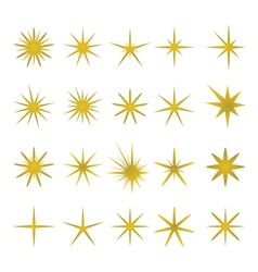 Golden sparks and sparks elements and symbols vector