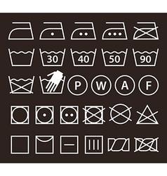 Set of washing symbols vector