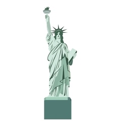 statue liberty monument isolated vector image