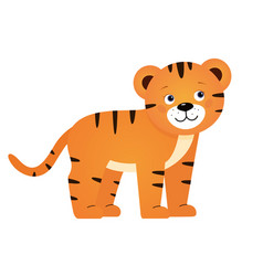 tiger for children vector image vector image