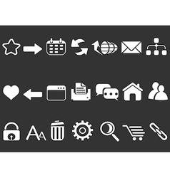 white web internet icons set vector image