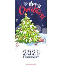 2021 calendar cover funny cartoon christmas vector
