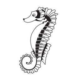 a sea horse vector image