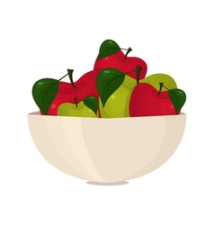 abstract bright apples in a bowl vector image