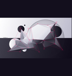 abstract chaotic geometric low poly shapes vector image