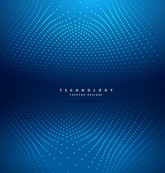 Abstract dots mesh in blue background vector