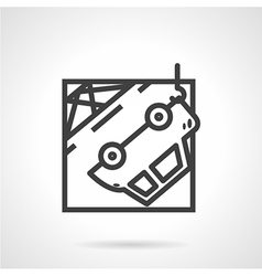 Abstract icon for car evacuation vector