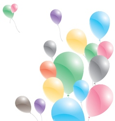 Balloons on a white background Multicolored vector