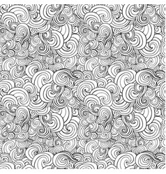 big seamless pattern black and white stylized vector image
