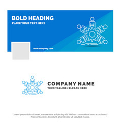 blue business logo template for team group vector image