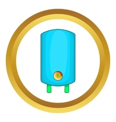 Boiler water heater icon vector image