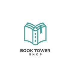 book tower logo vector image