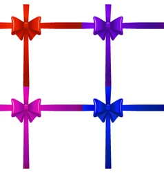 bows with ribbons vector image
