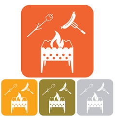 brazier zephyr and sausage icon vector image