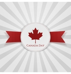 Canada Day greeting red Badge vector image