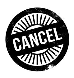 Cancel stamp rubber grunge vector