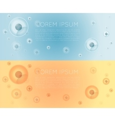 Cells banner vector image