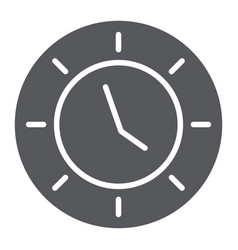 clock glyph icon watch and hour time sign vector image