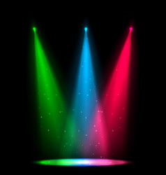 colorful glow spotlights background vector image