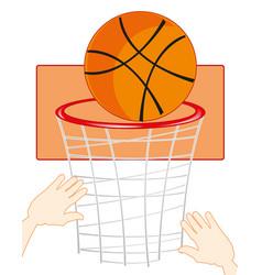 command play basketball vector image