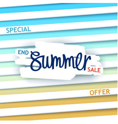 Creative summer sale poster vector