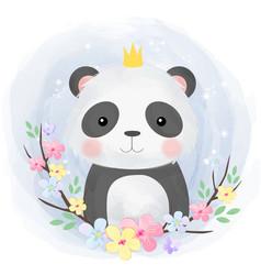 Cute panda vector