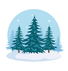 day snowscape field scene vector image