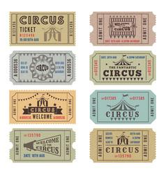 Design template circus tickets vector