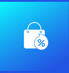discount sale icon with bag vector image