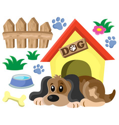 Dog thematic image 1 vector