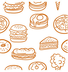 doodle of food various set vector image vector image