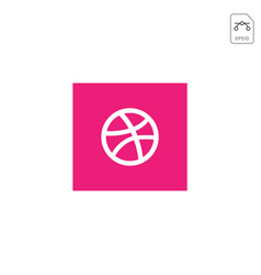 dribbblr logo or symbol design ison isolated vector image