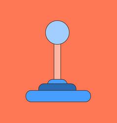 Flat icon on background joystick vector