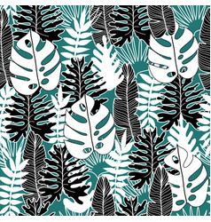 floral and tropical seamless pattern vector image