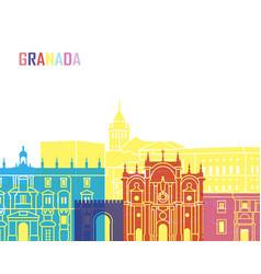 granada skyline pop vector image vector image