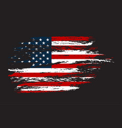 Grunge flag usa in with grunge texture vector
