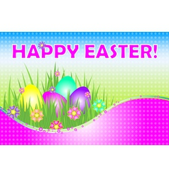 happy easter pink vector image