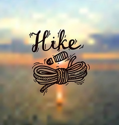 hike logo vector image