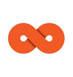 Infinity symbol icon representing concept of vector